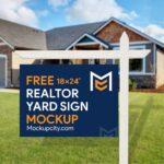 Free Realtor Yard Sign Mockup PSD