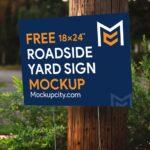 Free Roadside Yard Sign Mockup PSD
