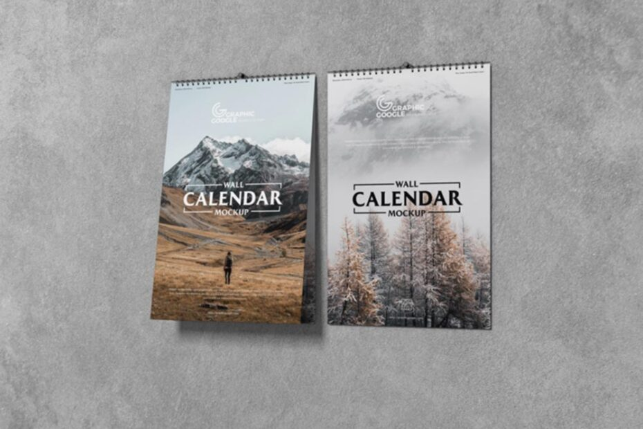 Free 11×17 Wall Calendar Mockup