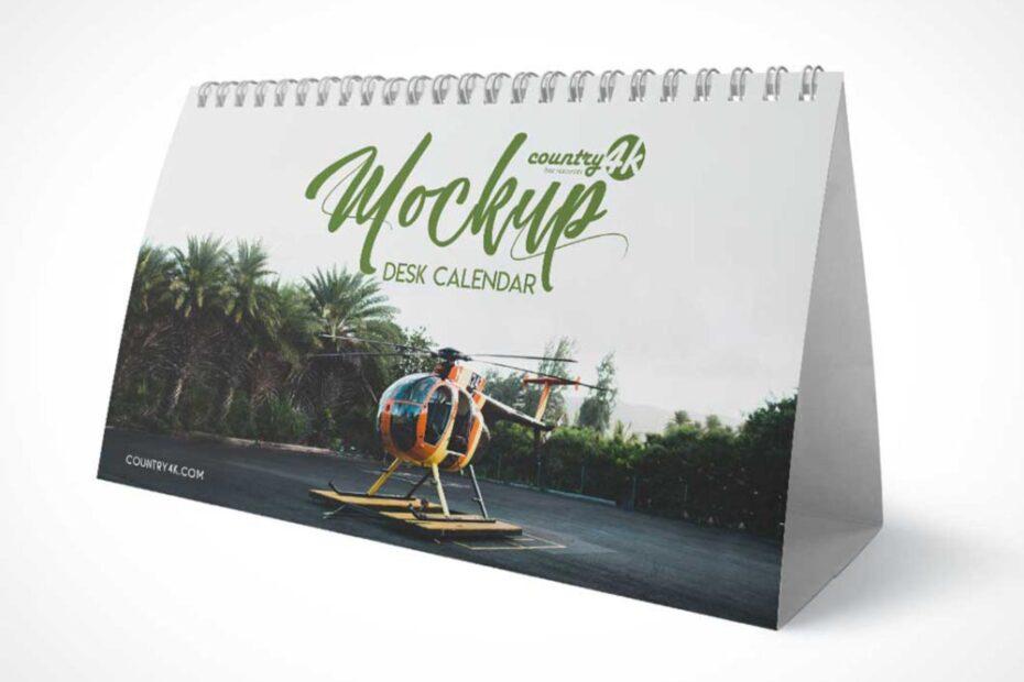 Free Landscape Tent Calendar Mockup