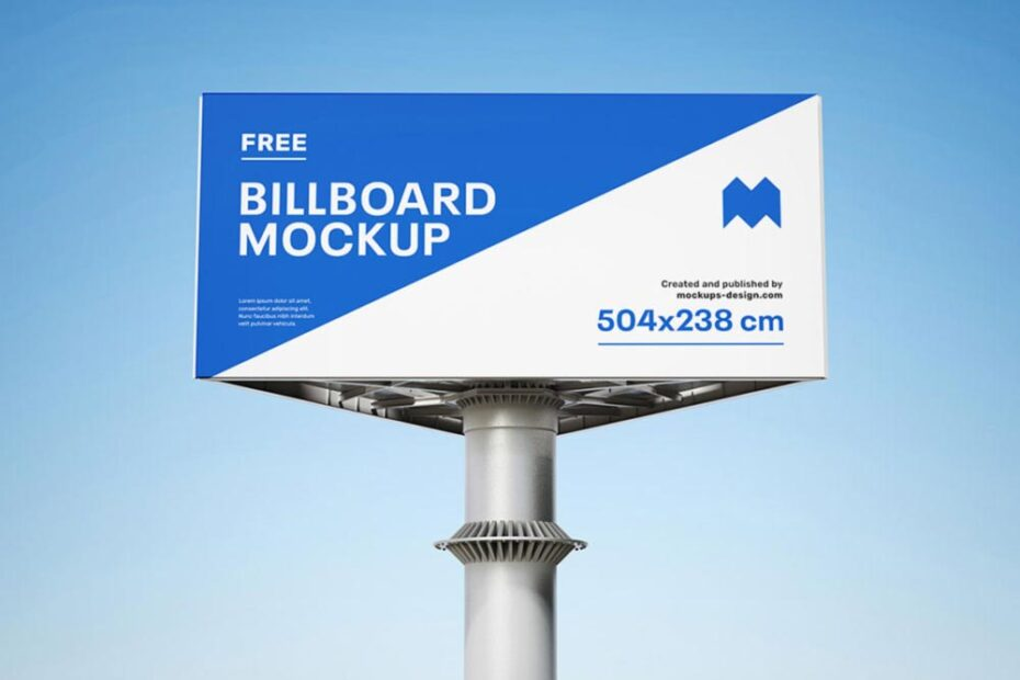 Free Modern Billboard Mockup