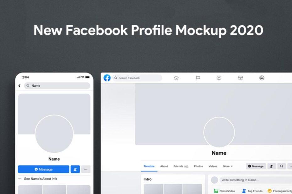 Free New Facebook Profile Mockup 2020