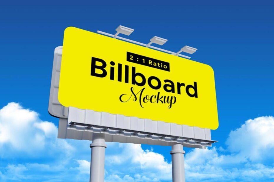 Free Rounded Corners Billboard Mockup