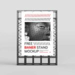 Free Banner Stand Mockup