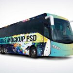 Free Bus Mockup PSD