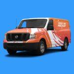 Free Cargo Van PSD Mockup