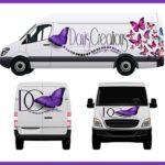 Free Commercial Van Mockup