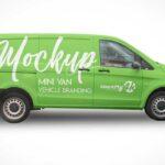Free Delivery Van Mockup