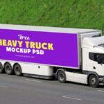 Free Heavy Truck Mockup