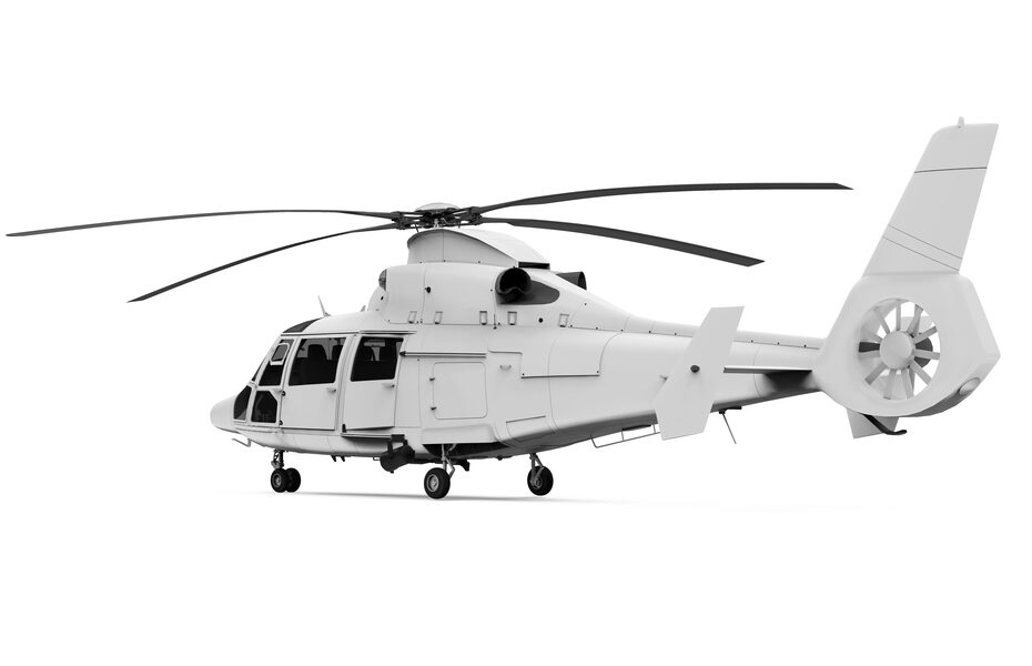 Free Helicopter Mockup