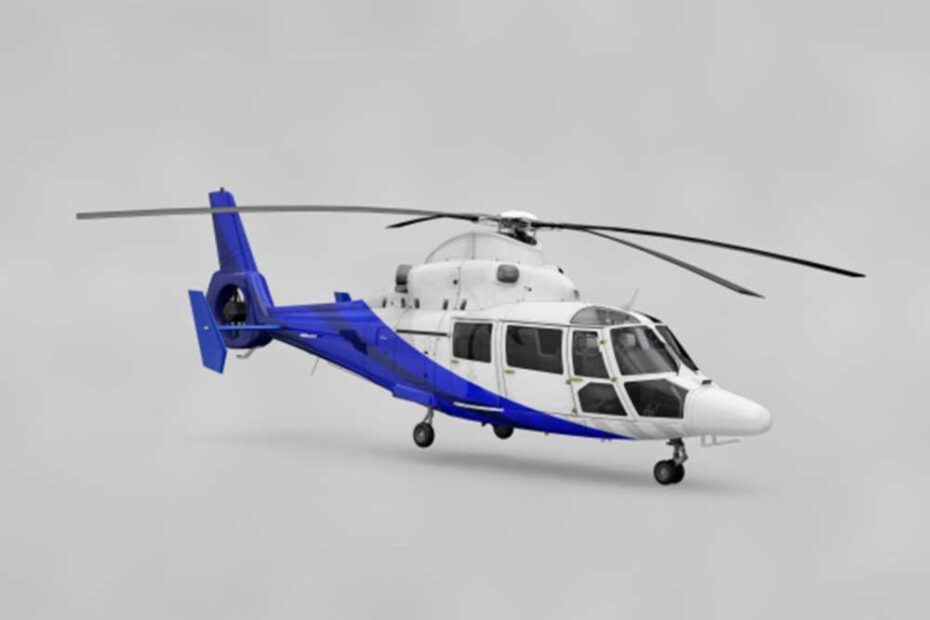 Free Helicopter PSD Mockup