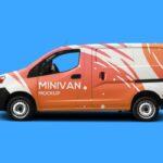Free Mini Van Mockup