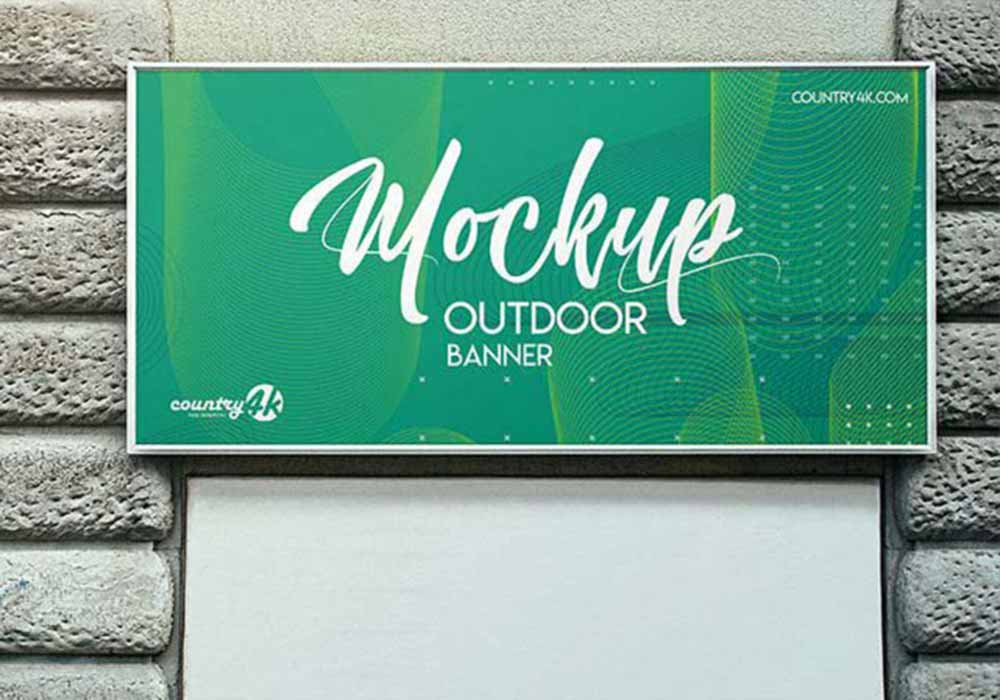 Free Outdoor Banner Mockup