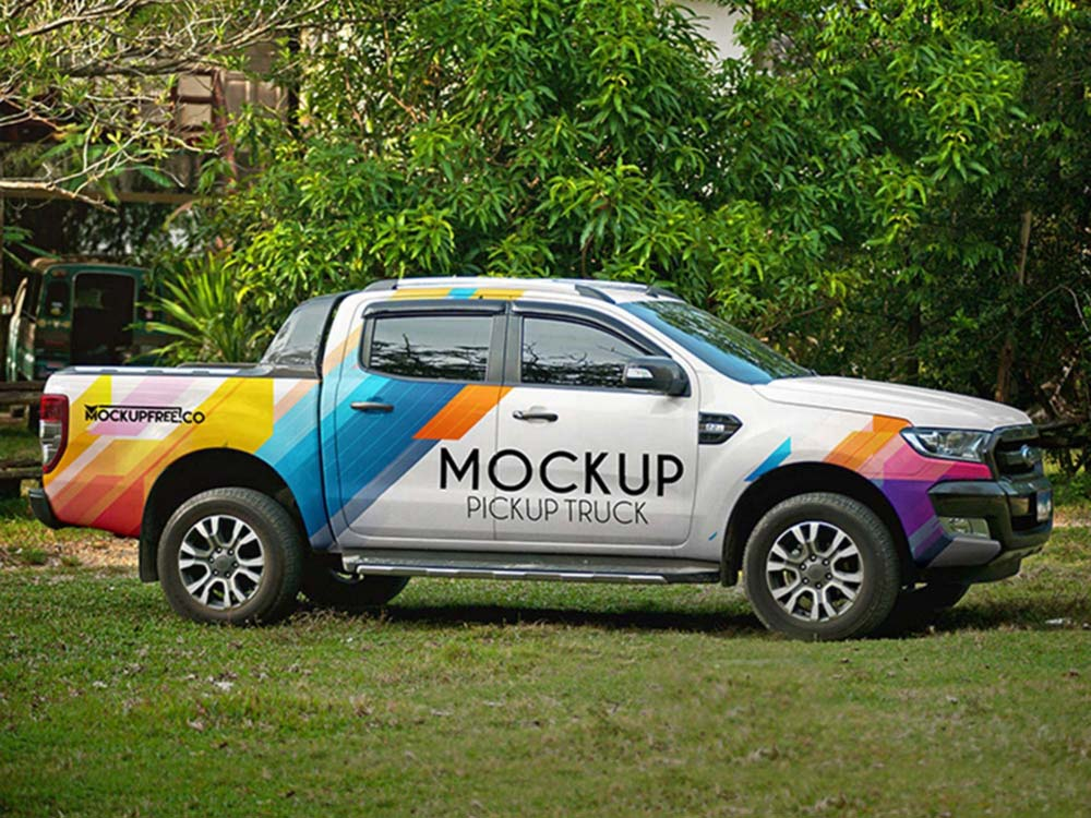 Free Pickup Truck Mockup