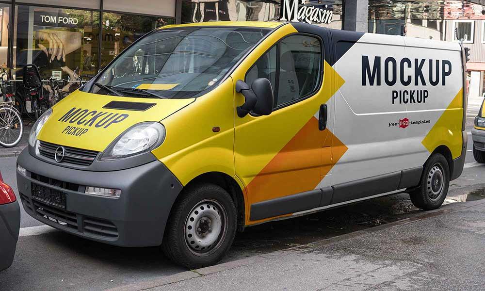 Pickup-Van-Mockup