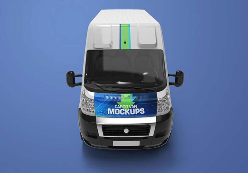 Free Realistic Cargo Van Mockup