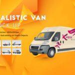 Free Realistic Van Mockup