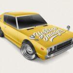 Free Retro Sport Car Mockup PSD