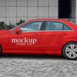 Free Sedan Car Mockup