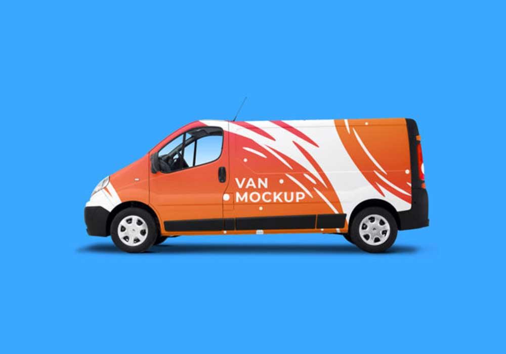 Free Simple Van Mockup