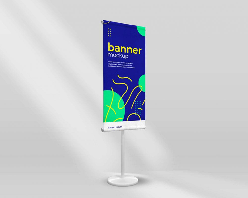 Free Standing Banner Mockup