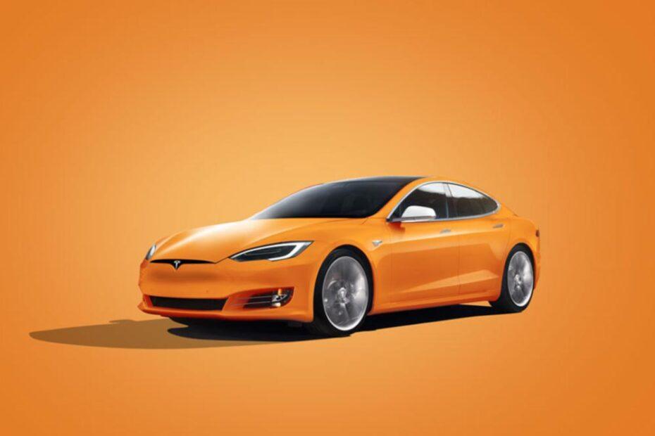 Free Tesla Car Mockup PSD