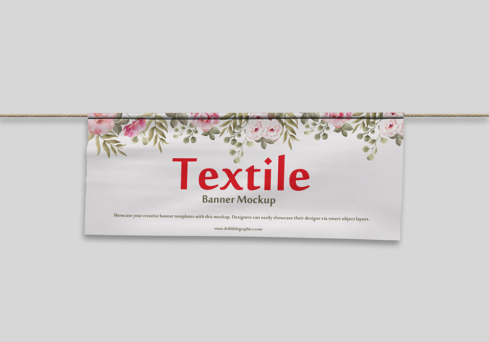 Textile-Banner-PSD-Mockup