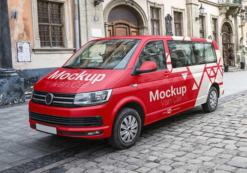 Free Van Car Mockup