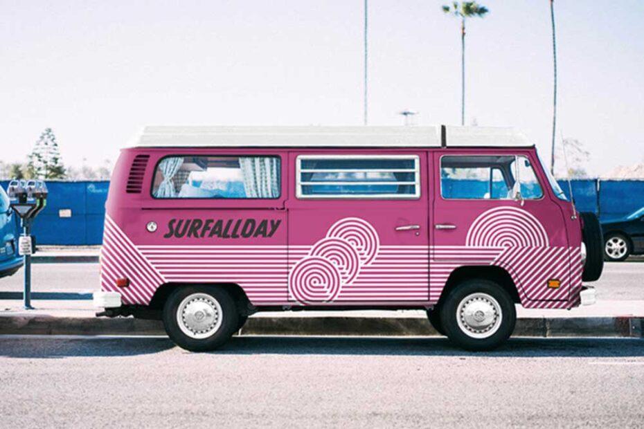 Free Volkswagen Van Mockup