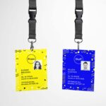 Free Identity Card Front and Back Mockup