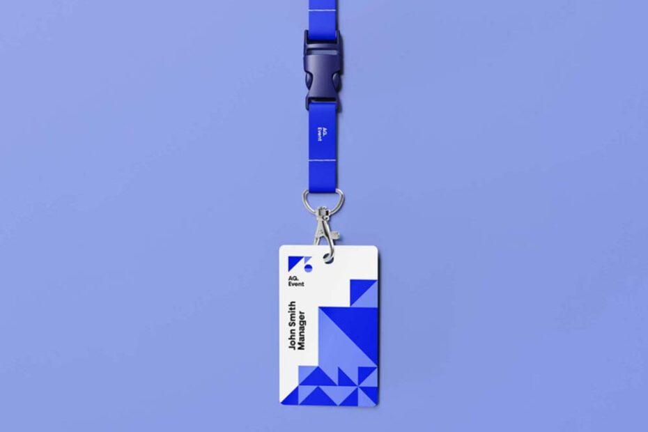 Free Modern ID Card Mockup