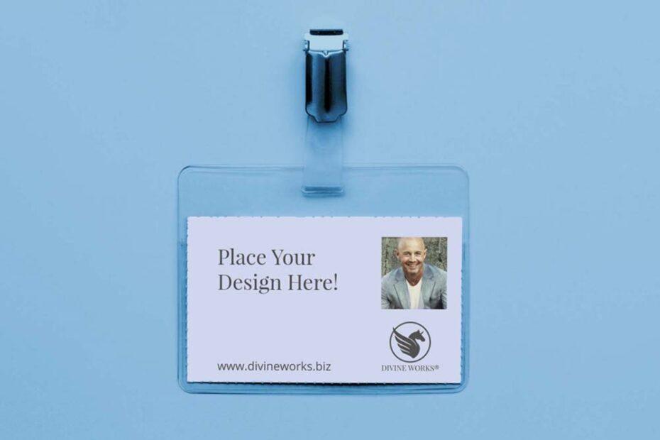 Free Professional ID Card Holder Mockup