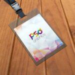 Free Vertical ID Card Holder Mockup