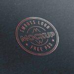 Free Embossed Logo Mockup