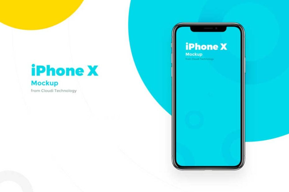 Free Front View iPhone X PSD Mockup