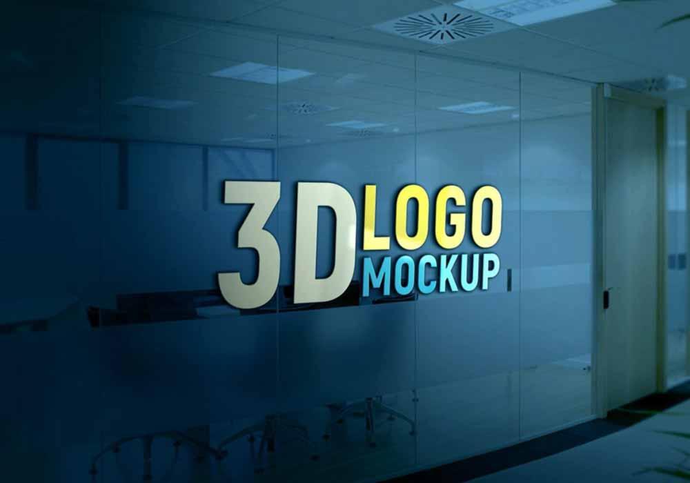 Glass-Wall-3D-Logo-Mockup