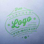 Free Leather Engraved Logo Mockup