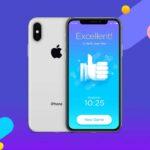 Free Silver iPhone X Mockup