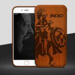 Free iPhone 6 Wooden Case Mockup