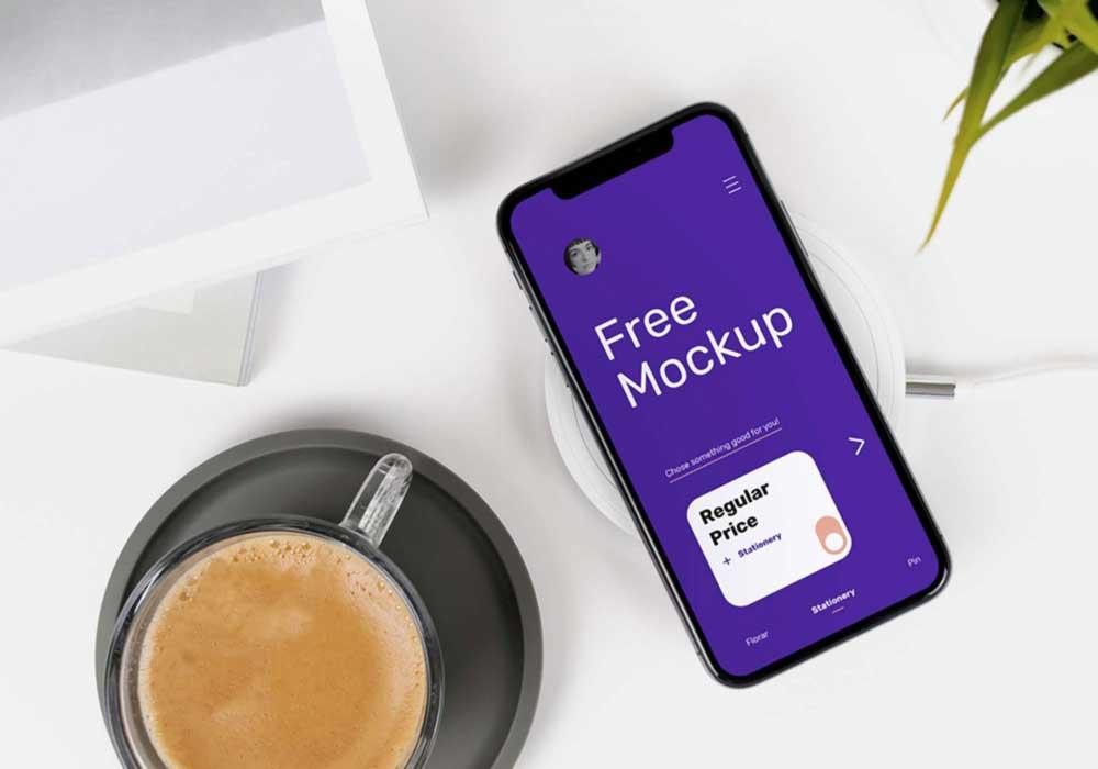 iPhone-X-on-Desk-Mockup