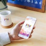 Free iPhone with Mug Mockup