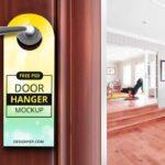 Free Classic Door Hanger Mockup