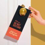 Free Clean Door Hanger Mockup
