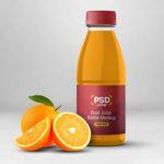 Free Fruit Juice Bottle Mockup