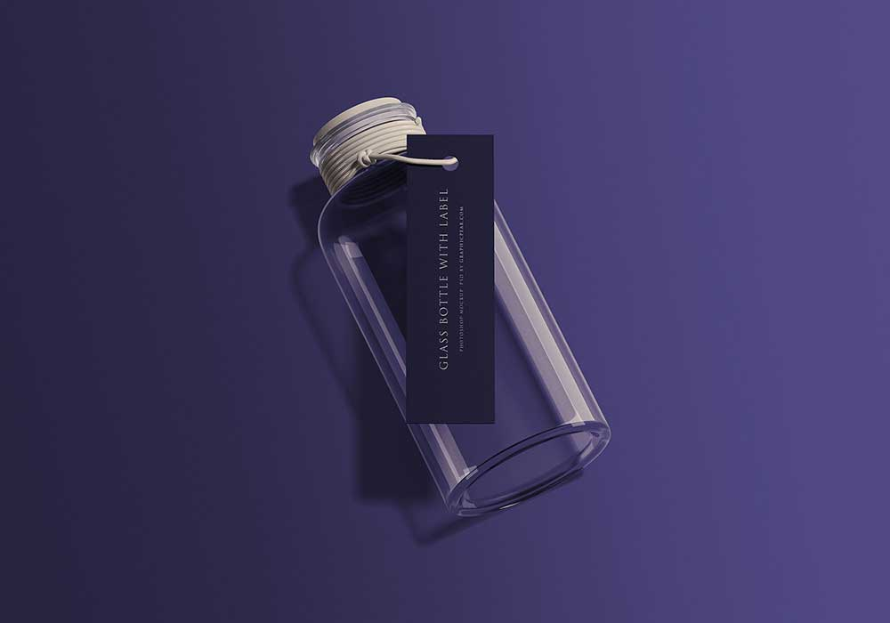 Glass-Bottle-with-Tag-Mockup