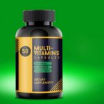 Free Multi Vitamin Bottle Mockup