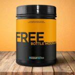 Free Sports Nutrition Bottle Mockup