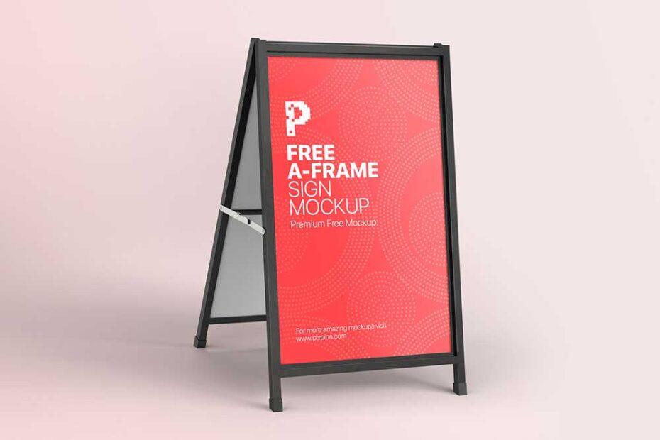 A-Frame Sign Mockup