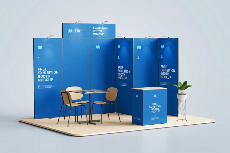 Free Exhibition Booth Mockup PSD