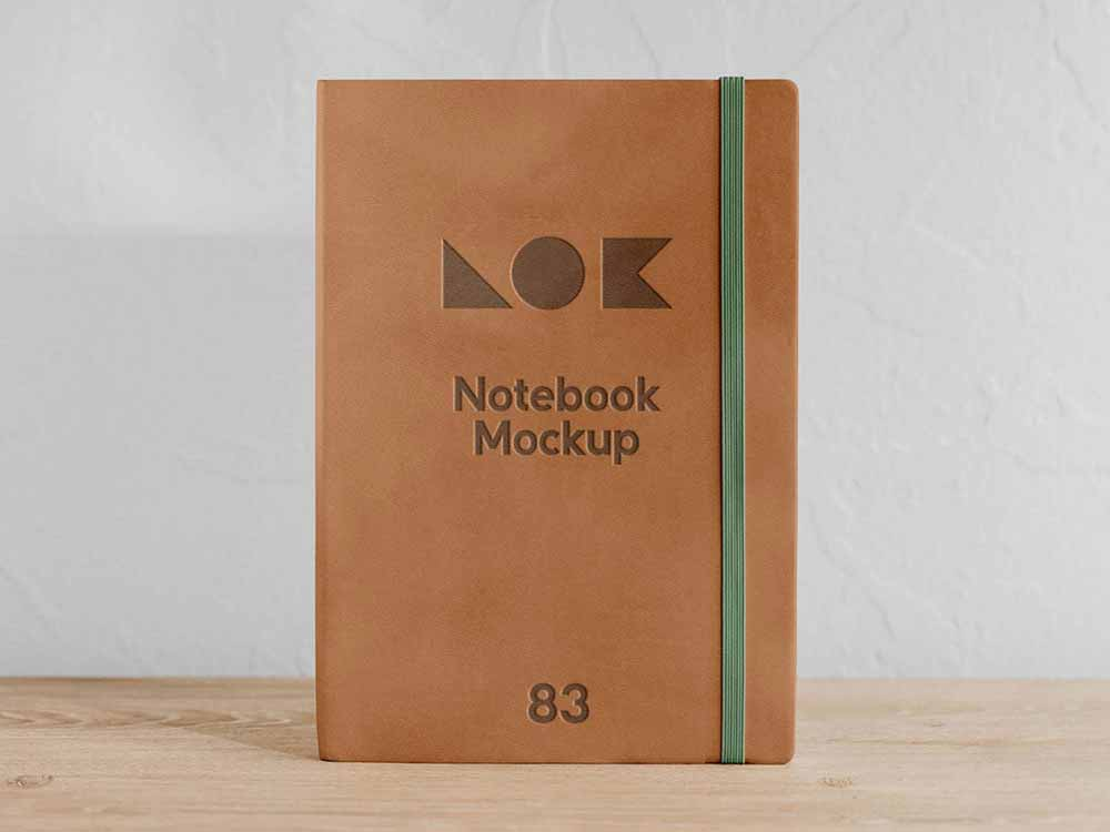 Front-View-Notebook-Mockup